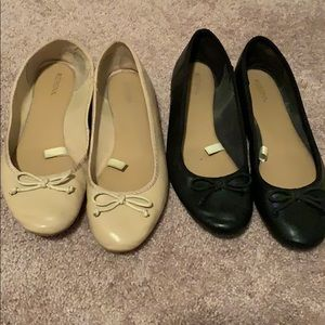 Two pair size nine ballet flat style shoes